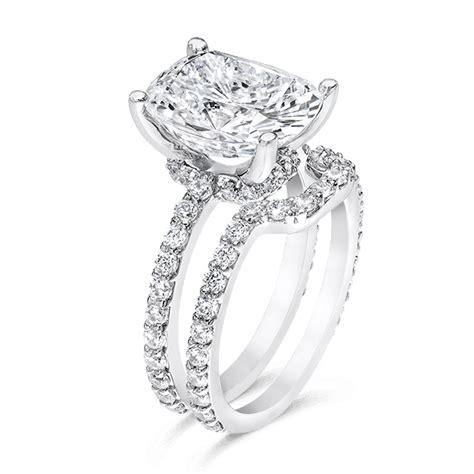 oval cushion 5 0 carat 14k wedding ring