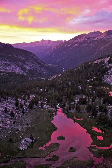 Sunset Lyell Canyon Yosemite National Park Flickr