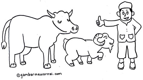 Coloring Kambing by Coloring Coloring Of Masjid Coloring Pages