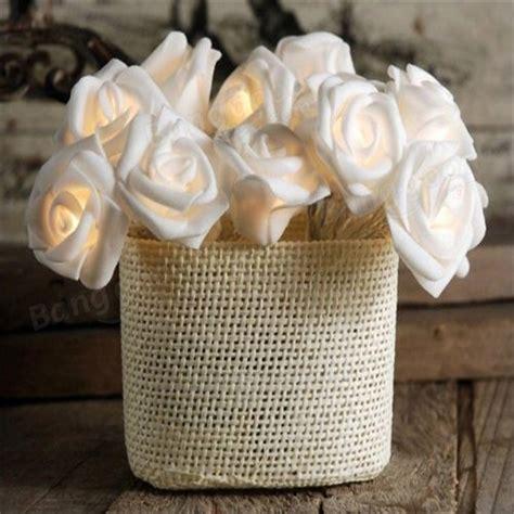 10 Lights Rose Flower String Led Fairy Lights Wedding