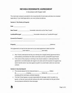 roommate agreement template free - free nevada roommate agreement template word pdf