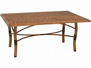 woodard glade isle aluminum 48 x 36 rectangular thatch top With 48 x 36 coffee table