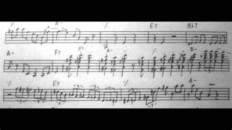 django reinhardt minor swing minor swing django reinhardt transcription