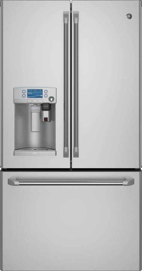 ge cafe  piece kitchen package  cgssetss gas range cfeushss refrigerator cdtssjss