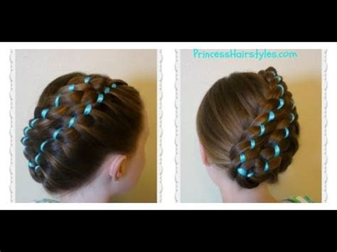 diagonal stacked ribbon braid updo easter hairstyles