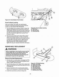 Warning  Mower Belt Replacement