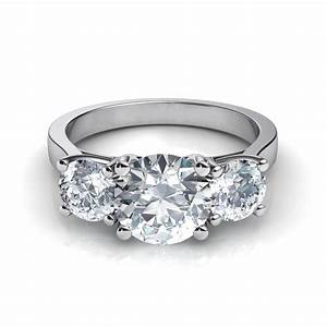 three stone trellis engagement ring With 3 stone wedding ring