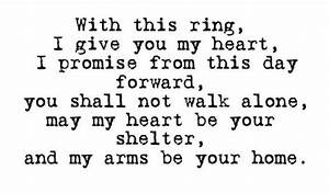 with this ring i give you my heart i promise from this With wedding ring exchange quotes