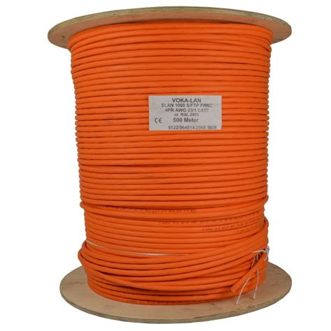 datenkabel cat 7 500m cat 7 kabel netzwerkkabel installationskabel verlegekabel cat7 datenkabel orange 1000mhz