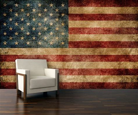 wall mural vintage american flag mural repositionable