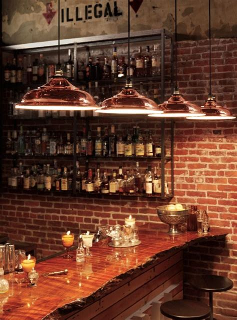 Bar Lighting Ideas by Copper Design And Bar Tops On