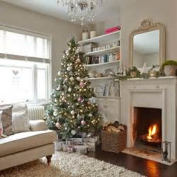 cream living room with christmas tree decorating housetohome co uk