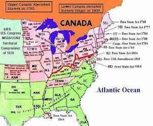 siebert map of underground railroad routes. Slave, Non ...