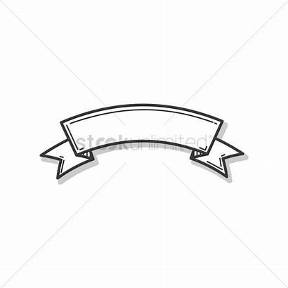 Outline Ribbon Banner Vector Vectors Stockunlimited Illustration