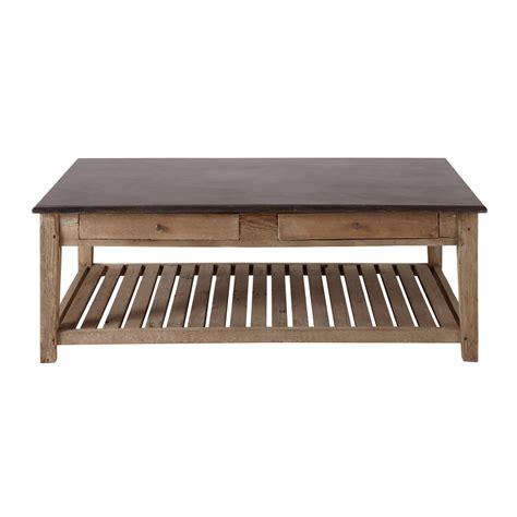 table basse bois recycle table basse bois recycl 233 auteuil maisons du monde