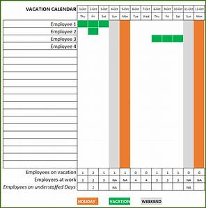 employee vacation planner free hr excel template for With vacation planning calendar template