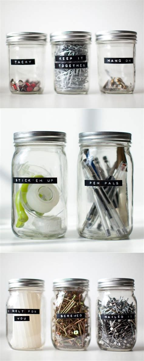 organiser bureau best 25 jar storage ideas on jar