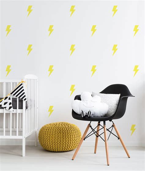 lightning bolt wall decals removable nursery decor 41