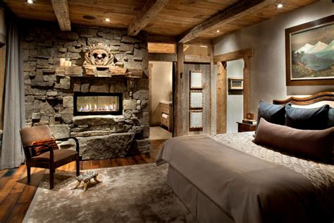 chic bedroom rustic bedrooms design ideas canadian log homes Rustic