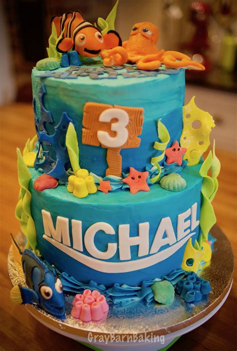 finding dory nemo cake gray barn baking
