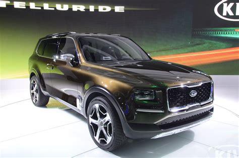 kia telluride suv concept unveiled  detroit  auto