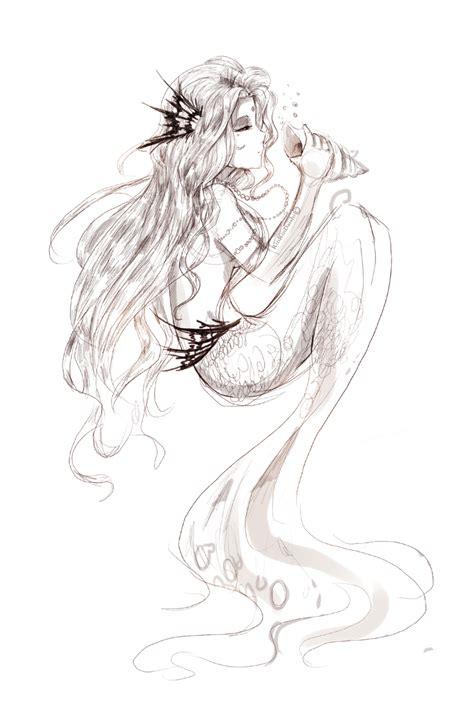 Printable  Mermaid Drawing Tumblr 25 A Simple Disney