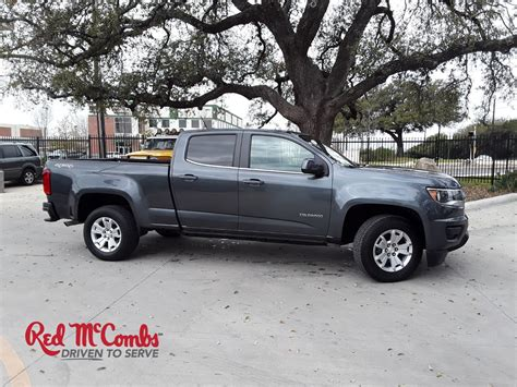 Mccombs Chevrolet by Pre Owned 2016 Chevrolet Colorado Lt Crew Cab In
