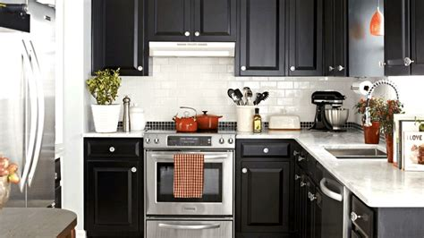 enzy living diy kitchen cosmetic makeovers on apartment black and white kitchen makeover