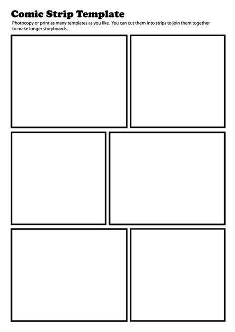 comic template pdf teaching student comic and templates