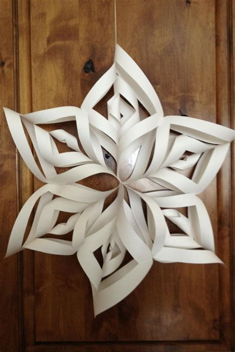 giant paper snowflakes   ceiling crafts