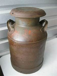 Antique, Rarer, Smaller, Milk, Can, Barn, Primitive, Na