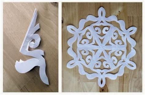 Cetakan Salju Frozen Stencil bunga salju kertas snowflake crafts