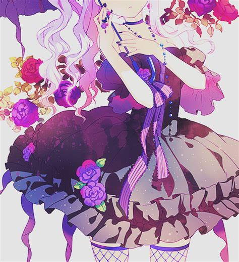 Purple Anime Girl Tumblr