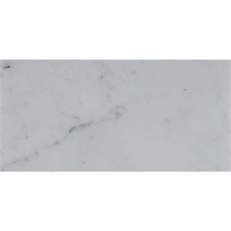 ms international carrara white 4 in x 12 in polished