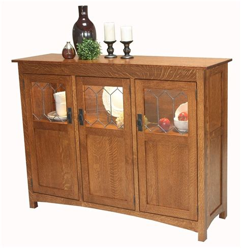 mission kitchen cabinets amish dining room display buffet server sideboard solid 4170