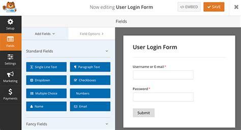 create  custom login form  wordpress
