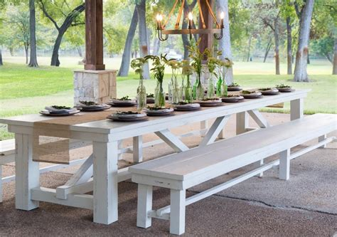 Dining Room Sets With Bench - white wood outdoor dining table thebestwoodfurniture com
