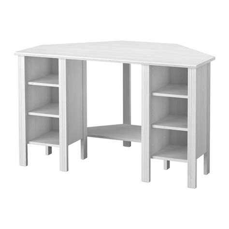 bureau pc ikea brusali corner desk white 120x73 cm ikea