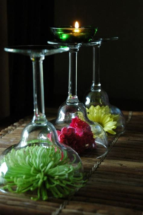 stem glass flower arrangements