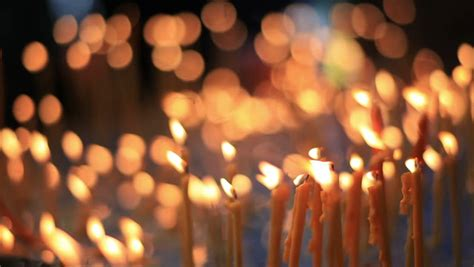 Many Burning Candles Inside A Romanian Monastery Stock Footage Video 2992846 Shutterstock
