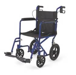 new medline transport chair wheelchair with brakes quot blue quot ebay