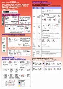 Notice Epson Stylus Dx3800