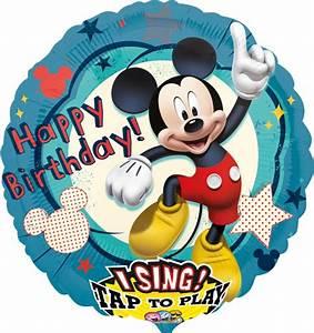 Mickey Mouse Geburtstag : happy birthday mickey mouse singender ballon mit ballongas ballonsupermarkt ~ Orissabook.com Haus und Dekorationen
