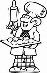 Boulanger Baker Coloriage Coloring Boulangerie Dessin Patisserie Imprimer Dessins Colorier Getcolorings Printable sketch template