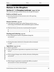 Chapter 6 Humans In The Biosphere Worksheet Answers