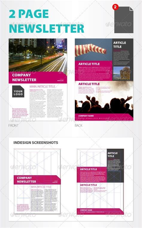 printable newsletter templates  psd indesign