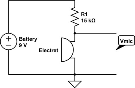 Audio Getting Opposite Expected Voltage With Electret