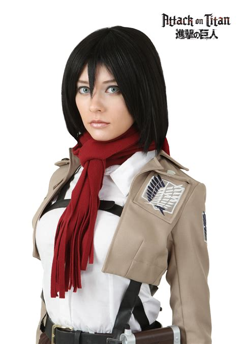 attack on titan mikasa ackerman wig