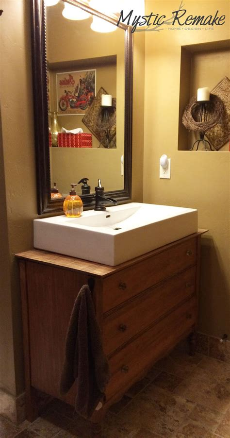 hometalk bath vanity  upcycled dresser