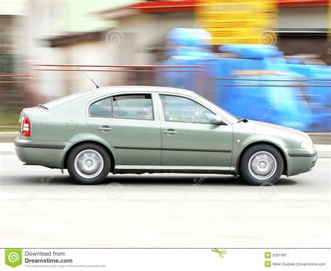 Fast Moving Car Stock Image. Image Of Speed, Liftback